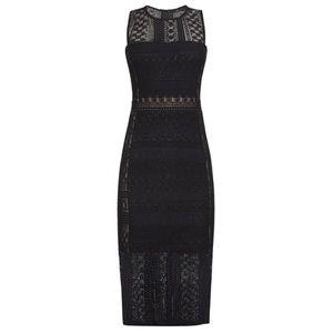 BCBG sita geometric lace sheath knit dress